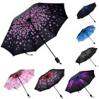 Windproof 50+ Anti-UV Sun Rain Protection Umbrella Flower Parasols 3 Folding