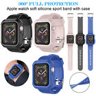 Silicone Sport Band Strap+Case for Apple Watch Series 5/4/3/2/1 42/38/40/44mm  image