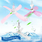 6 Tpyes Mini Ceiling Fan Plastic 3 or 4 Blades Hanging Summer Cooler Gift 1