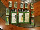 Huge Vintage Fishing Lure Heddon in Original Boxes W/ Papers