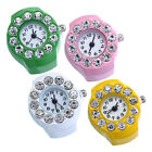 Ring Watch Stainless Steel Round Quartz Finger Ring Watch Lady Girl Gift Pretty image