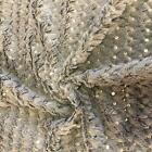 Super Luxury Faux Fur Fabric Material GREY SEQUINS