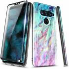 For LG V40 ThinQ / V50 ThinQ Case Ultra Slim Thin Hybrid Cover + Tempered Glass