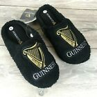 Official Guinness Mens Slip On Mules Slippers Soft Touch Black Licensed Product