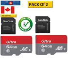 64Gb real capacity Micro SD Card with adapater <br/> 2 Pack of 64GB MicroSD Card with adapter