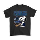 Vancouver Canucks Ice Hockey Broken Teeth Snoopy NHL Black T-Shirt S-6XL $13.99 USD on eBay