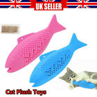 Cat Interact Fish Realistic Clean Toys Simulation Catnip Gift For Pet Chewing UK