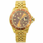 Rolex GMT-Master Rootbeer 18k Yellow gold Chocolate Dial Mens Watch 16758 image
