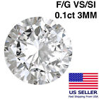 0.1 Ct 3mm Loose Untreated Natural Diamond SI/VS 1/10 Carat 10 Pointer Wholesale