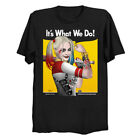 It's What We Do Harley Quinn As Rosie the Rivete Birds Of Prey Black T-Shirt image