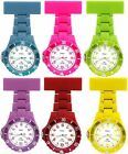 NY London White Face Silicone Rubberised Plastic Nurse FOB Watch Brooch