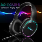 Wireless bluetooth LED Gaming Headset Vibration Surround Sound 80 Hours With