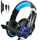 Ps4 Headset Insmart Pc Gaming Over-Ear Headphones with Mic Led Light Noise