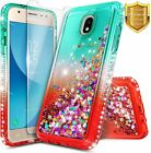 For Samsung Galaxy J3 Orbit/Star/Achieve Case Liquid Glitter Bling Soft Cover