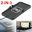 Qi Wireless Charger Car Holder Mount Non-Slip Pad Mat For Samsung S10 iPhone 11