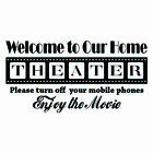 Living Room Theater Room Custom Name Home Decal Vinyl Wall Mural Decor Sticker
