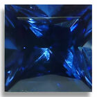 Lab Created Blue Sapphire Square Princess Faceted Loose Gemstones AAA 3mm-8mm