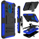 For LG Neon Plus (AT&T) Shockproof Hybrid Holster Belt Case Cover With Kickstand