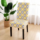 1/4/6pcs Stretch Spandex Dining Room Printed Chair Covers Slipcovers Home Decor