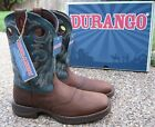 NEW Mens DURANGO Rebel Brown Leather Square Toe Western Cowboy Boots DB016