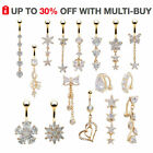 Dangly Gold Belly Button Bars Navel Rings Dangle Drop Uk Body Piercing Jewellery