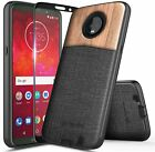 For Motorola Moto Z2 Play/Z2 Force Case Shockproof Hybrid Cover + Tempered Glass