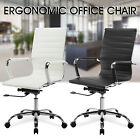 Modern Ergonomic PU Leather Executive High Back Computer Office Chair Black/WH