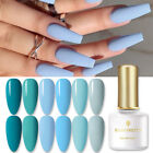 BORN PRETTY 6ml Blue Series Soak Off UV Gel Nail Polish Nail Art Gel Varnish DIY
