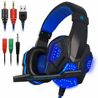 Gaming Headset 3.5mm Wired Headphones Stereo with Mic LED For Xbox One S PS4 Pro