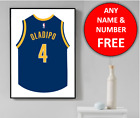 Indiana Pacers Basketball Jersey Personalised Name Wall Art Print Poster Gift on eBay