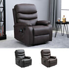 8 Massage Point Recliner Chair w/Heat and Remote Control PU Leather