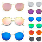 Retro Fashion Men Women's Round Sunglasses  Vintage Oversized Mirror Glasses NEW