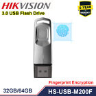 Hikvision 32GB 64GB Fingerprint USB Flash Drive HS-USB-M200F USB 3.0 U Disk PC