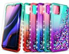 For Iphone 11 Pro Max 11 Pro Case, Liquid Glitter Phone Cover + Tempered Glass
