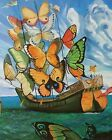 Ship of Dreams by Salvador Dali Painting Artwork Paint By Numbers Kit DIY