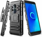 For TCL A1X (A503DL) Holster Case Belt Clip Kickstand Dual Layer Phone Cover