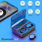Bluetooth 5.0 Wireless Headset TWS Handsfree HiFi Sports Pairs Headphone Earbuds