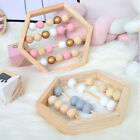 Wooden Abacus Toy Hexagon/square Home Decoration Desk Room Decor Kids Gift