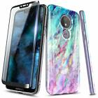 For Motorola Moto e5 (XT1920DL) Case Ultra Slim Cover + Tempered Glass Protector