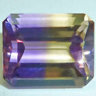Natural Ametrine Yellow/Purple Emerald Cut Faceted Loose Gems Fine AAA Quality