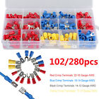 280pc Spade Butt Ring Electrical Connector Splice 22-10 Gauge Wire Terminal Kit
