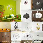 Diy 3d Number Mirror Wall Sticker Art Clock Office Living Room Modern Home Decor
