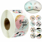 500Pcs/Roll Thank you Stickers Wedding Flower Baking Handmade Adhesive Labels