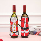 Home & Kitchen Holder Bag Wine Bottle Cover Santa Claus Apron Table Decors N3