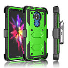 Motorola Moto G7 Power/Supra/Optimo Maxx Case Cover with Screen Protector Clip