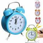 Twin Bell Alarm Clock Analog Backlight Quartz Movement Metal Table Bed