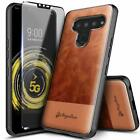 For LG Stylo 6 Case Shockproof Leather Phone Cover  Tempered Glass Protector