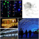 4x 3M 96 LED Window Curtain Icicle String Fairy Lights Wedding Party Xmas Decor