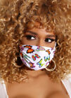 Cloth Mask Face Nose Cover Floral Print Washable Reusable Women,USA Seller <br/> Fabric Face Mask Flower Fashion Butterfly Pink Ribbon