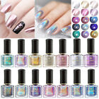6ml BORN PRETTY Rose Gold Metallic Nail Polish Silver Holographicss Nail Varnish